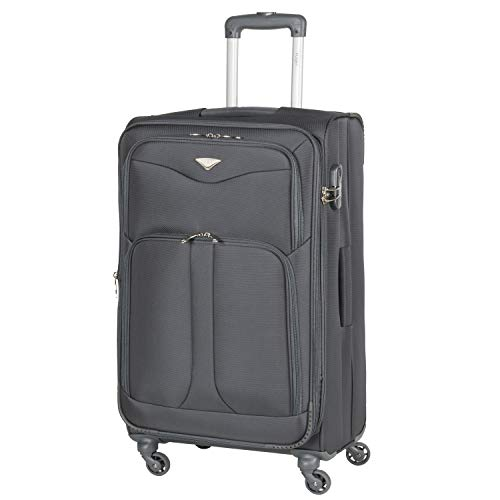 Flight Knight Lightweight 4 Wheel 800D Soft Case Suitcases Maximum Size for Delta, Virgin Atlantic Airlines Cabin & Hold Luggage Options Approved for 67 Airlines Including easyJet, BA & Many More!