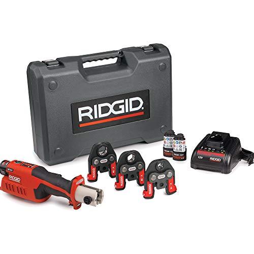 RIDGID 59183 Modelo RP 241 Herramienta de Compresión Kit con Mordazas RF-s16-20-25, 12 V