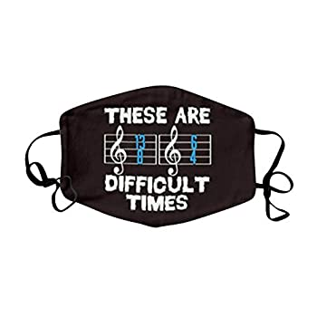 Music Notes Face_Mask for Adults Flying Guitar Saxophone Piano Music Note Reusable Washable Cloth Mouth Covering Bandana Adjustable for Party Event Holiday Outdoor Indoor Breathable  Q
