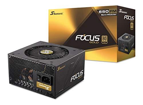 Seasonic Focus Gold 650 unité d'alimentation d'énergie 650 W ATX Noir - Unités d'alimentation d'énergie (650 W, 100-240 V, 50-60 Hz, 4.5-9 A, 648 W, 100 W)
