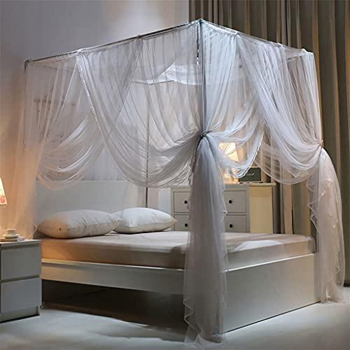 Ropa de cama Cama de cama de mosquitos, mosquiteras de cuatro puertas....