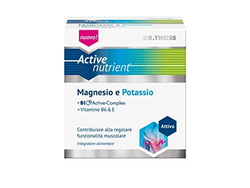 Magnesio Potassio Vitamina E Vitamina B6 Integratori di Sali Mineraili 20 Bustine. Indicato per Sport, Stress, Diarrea, Gravidanza, Allattamento, Dieta. Senza glutine, Senza lattosio. Gusto limone