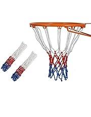Siatka do koszykówki, 2 sztuki, wysokiej jakości siatka do koszykówki, zamiennik standardowych felg wewnętrznych lub zewnętrznych, 12 pętli