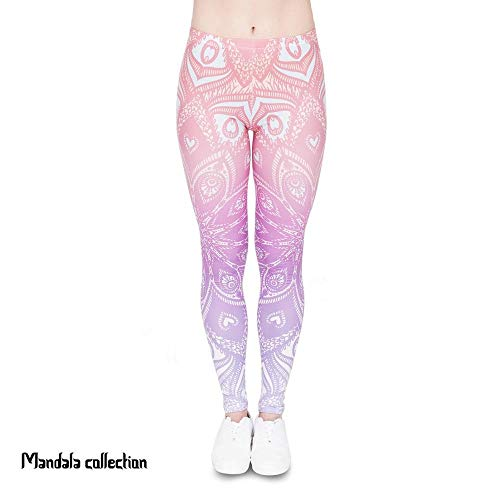 Adelina yogabroek modieuze ombre mandala legging oranje fitness druk hoge modieuze completi taille leggings vrouwen broek joggingbroek