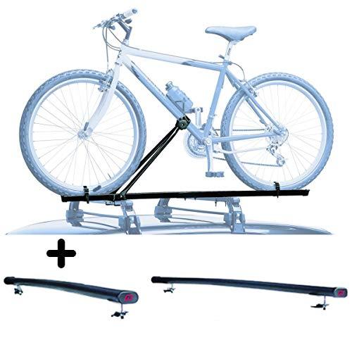 PROPOSTEONLINE Portabici da Tetto Auto Realizzato per Ford KUGA (2008-2012) Porta Biciclette Universale in Acciaio Incluso di Barre
