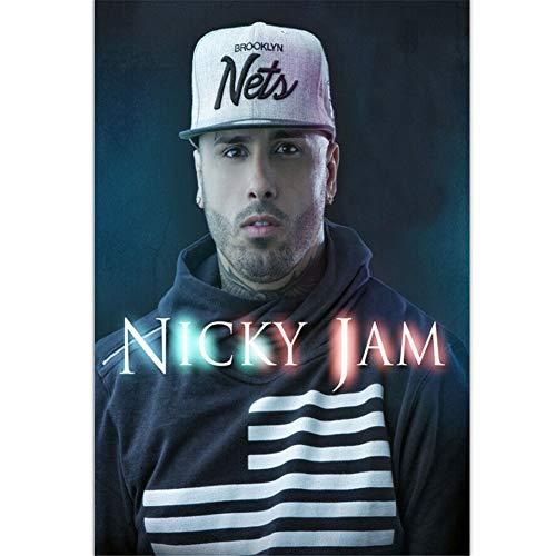 Nicky Jam Music Singer Star Wall Art Poster Canvas Painting Print Decoración para el hogar -20X28 pulgadas sin marco 1 piezas