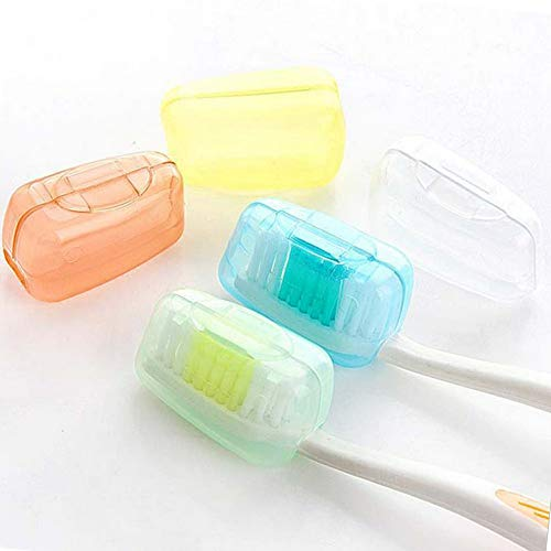 5Pcs Zahnbürstenhülle Reise-Schutzkappen Aufbewahrungshüllen Zahnbürsten Kopf Hüllen Zahnbürsten Schutz auf Reisen für das Reisen im Freien Camping Zahnbürste Schutzhülle Zahnbürstenhalter (5PACK)