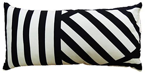 Kussen zwart-wit langwerpig 60x40 cm sierkussen sierkussen