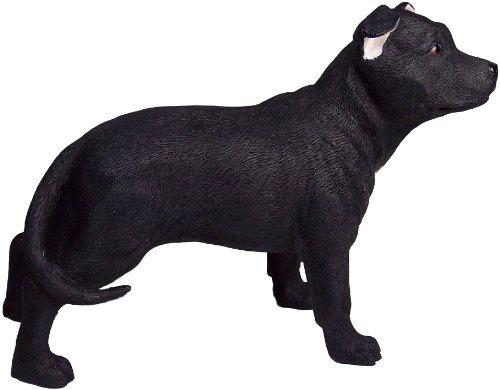Leonardo Collection Staff Bull Terrier Ornament Hund, Stein, Schwarz