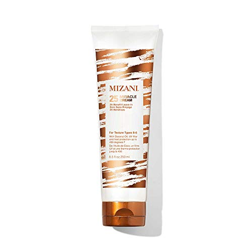 MIZANI 25 Miracle Leave-In Cream | Adds Lightweight Moisture & Touchable Softness | with Coconut Oil | for Curly Hair | 8.5 Fl Oz