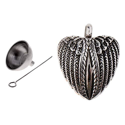 freneci Jewelry Ashes Urn Colgante Collar Conmemorativo de Recuerdo con Embudo Pequeño