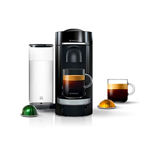 Nespresso VertuoPlus Deluxe Coffee and Espresso Machine by De'Longhi, Black
