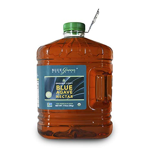 Blue Green Agave Organic Nectar, Light Blue, 176 Ounce