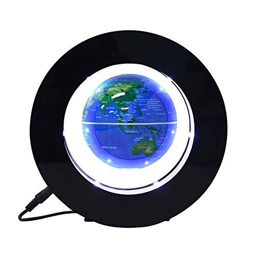 NBVCX Decoración de la Vida Levitación magnética Mapa del Mundo Flotante Globo con Base de Forma Redonda Planeta Giratorio Globo de Tierra Bola Lámpara LED antigravedad Decoración de Oficina
