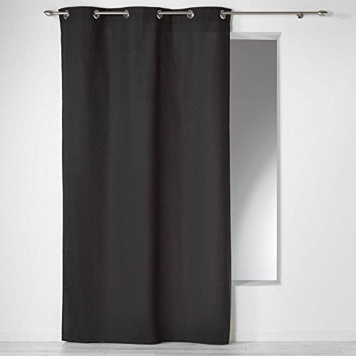 douceur d'intérieur 1604618 Panama Rideau avec Oeillets Coton Noir 140 x 240 x 240 cm
