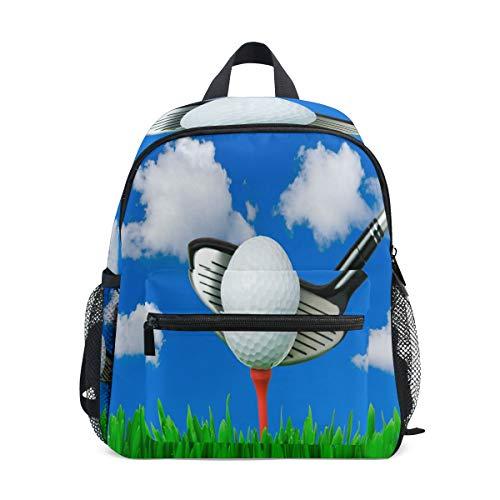 BIGJOKE Mochila Deportiva para niños, Pelota de Golf, Hombro para niños, Viajes, Escuela Primaria, Preescolar, guardería, para niñas y niños