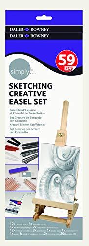 Daler Rowney - 646200201 - Kit De Loisirs Créatifs - Ensemble De Chevalets D'Esquisse Simply