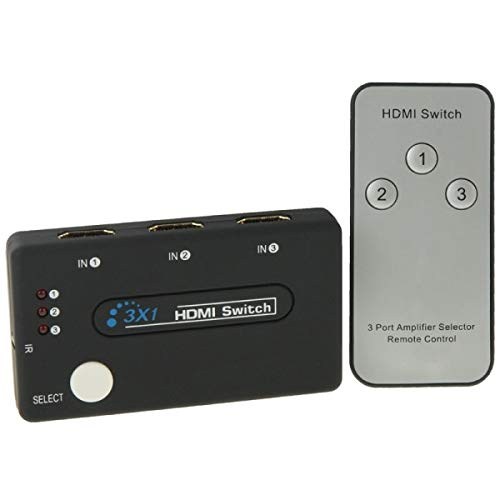 ILS Mini Switch 3x1 HD 1080P HDMI V1.3 met afstandsbediening voor HDTV/STB/DVD/Beamer/DVR