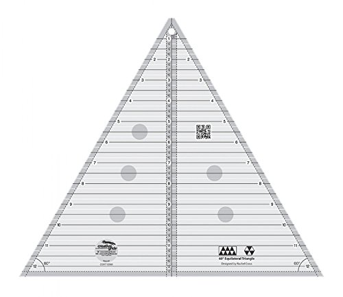 "Creative Grids 60 Degree Equilateral Triangle 12.5"" / for Up To 12"" Finished Size Quilting Ruler Template [CGRT12560]"