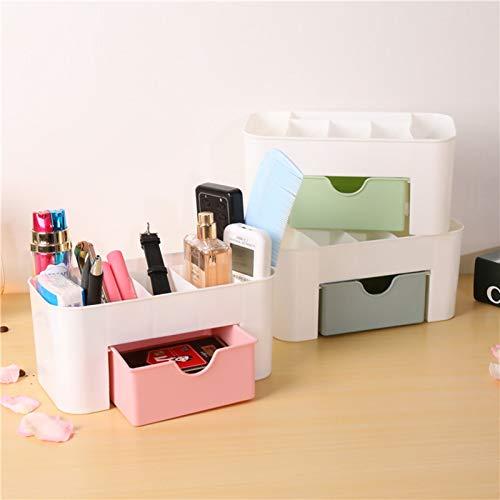 Caja de almacenamiento de adornos de escritorio Nuevo Caja de almacenamiento cosmético Luz de escritorio Maquillaje Organizador de caja Organizador tipo polvo Organizador para cosméticos Caja de almac