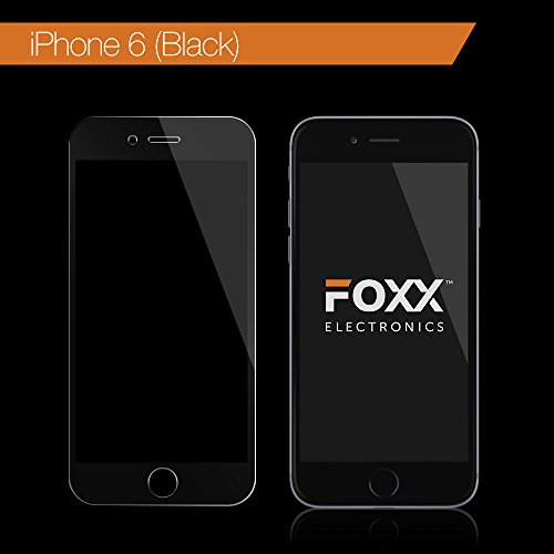 iPhone 6, 6S 4.7 Inch Tempered Glass Screen Protector Full Width with Black Edge - Excellent Fitting Premium 9H Featuring Anti-Scratch, Anti-Fingerprint, Bubble Free Features by Foxx Electronics