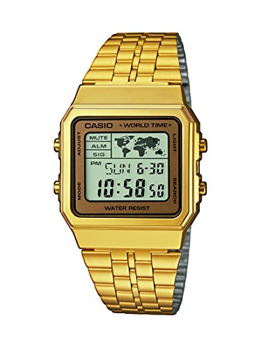 Casio Collection A500WEGA-9EF - Orologio da Polso Digitale, Oro/Oro