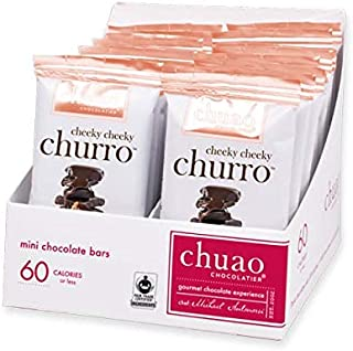 Chuao Chocolatier Cheeky Cheeky Churro Mini Chocolate Bars 24Pack (.39 oz mini bars) - Best-Selling Chocolate Pack - Gourmet Artisan Dark Chocolate - Free of Artificial Flavors