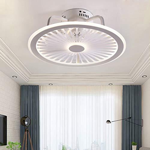 Leise Deckenventilator LED 56W Licht Dimmbar Mit Fernbedienung Ultra Dünn Design Fan Deckenleuchte Schlafzimmer Kinderzimmer Esszimmer Ventilator Lampe Fan Deckenlampe Timing Fan Kronleuchter