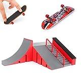 AumoToo Rampes de Skatepark, Skate Park Kit Rampe de Touche avec Mini Finger Skateboard Jouet Cadeau pour Les Enfants (C)