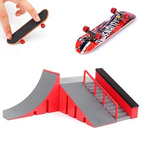 AumoToo Rampas Skatepark, Mini Kit Diapasón Parque del Patín Monopatín Dedo Entrenamiento En La última Puntales Juguete Niños (C)