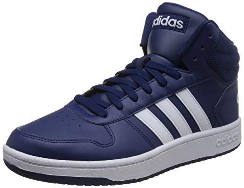 adidas Hoops 2.0 Mid, Scarpe da Basket Uomo, Blu (Dkblue/Ftwwht/Ftwwht), 43 1/3 EU