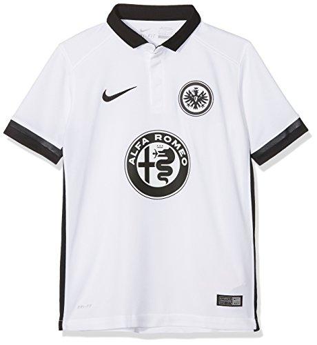 Nike Kinder Eintracht Frankfurt Away Stadium 2015/2016 Auswärtstrikot, weiß, 137/147