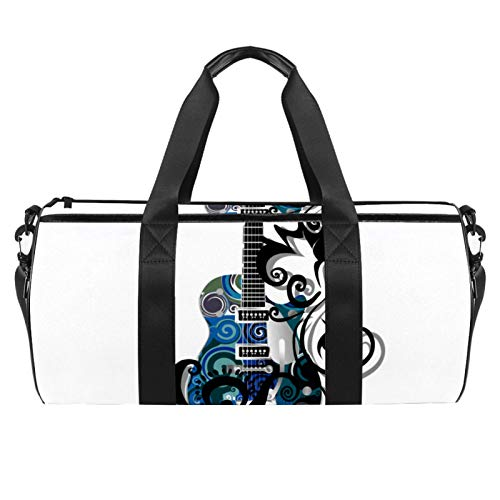 Z&Q Bolsa de Lona para niños Guitarra eléctrica Azul Tamaño de Mano...