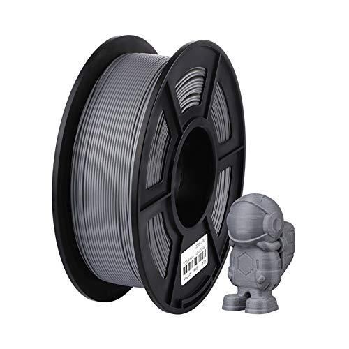 Printing Filament,Printer Filament PLA Filament 1.75mm Plastic for 3D Printer 1kg/Roll 6 Colors Optional Rubber Consumables Material for Printing (Color : Grey 1KG PLA)
