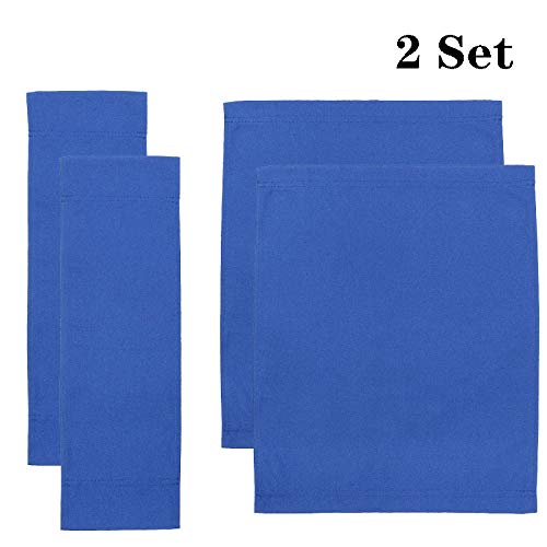 Upone 2 Set Director Chair Canvas Replacement Cover Canvas Covers for Directors Chairs Director Chair Replacement Canvas, Black, Red, Green, Gray,Blue (Blue)