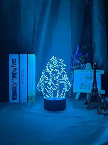 Manga Death Note L Lawliet Figur Led Nachtlicht für Anime Room Store Dekor Idee Coole Kinder Kind Schlafzimmer Tischlampe Ryuk Figur, DM115,16 Farbe mit Fernbedienung