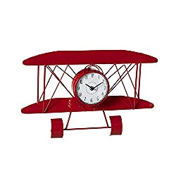 Midwest-CBK Ganz Red Airplane Wall Clock