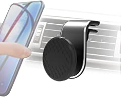 Car Phone Holder, Universal Magnetic Air Vent Mount Kit Black for All Smartphones(2-colors/2-size)