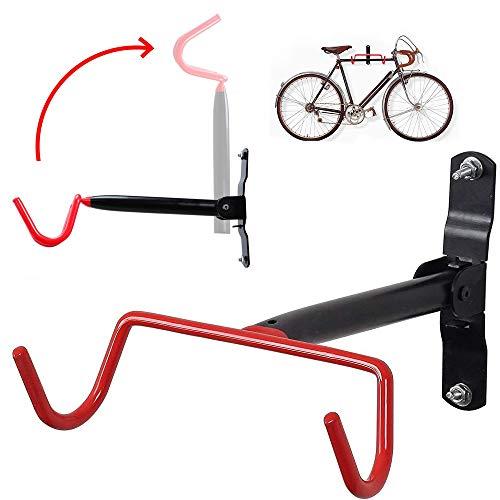 LANGYINH Wand Montiert Fahrradständer Doppelhaken Falten Fahrradständerhalter Mit Befestigungsschrauben