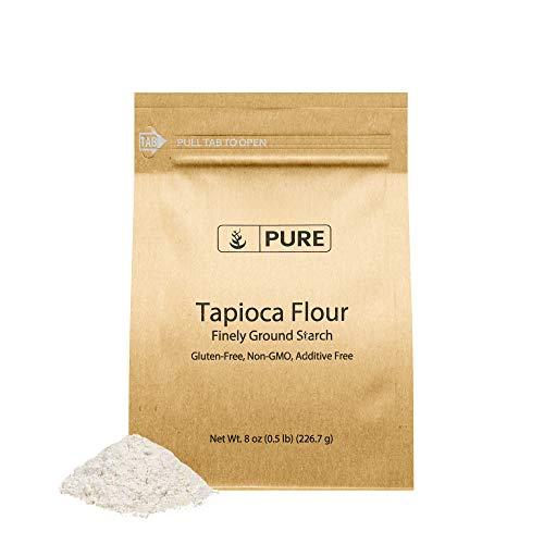 Tapioca Flour (8 oz.) by Pure Ingredients, Also Known As Tapioca Starch, Resealable Eco-Friendly Packaging, Fine White Powder, Gluten-Free, Non-GMO