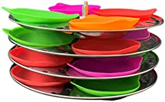 16-pack reusable silicone idli liners, made with food-grade silicone; ideal for making idlis Works with any standard idli plate Easy to remove ildis — no greasing or cooking spray needed Dishwasher, microwave and oven-safe (up to 500 degrees F) Inclu...