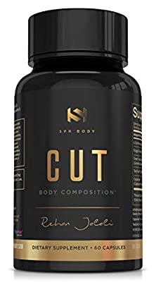 Cut Thermogenic Diet Pills | Meet Weight Goals, Modulate Appetite, Support Metabolism, Turn Fat To Energy | L-Carnitine, Guggul Extract, Capsimax, Green Tea EGCG, TeaCrine | 60 Capsules Supplement