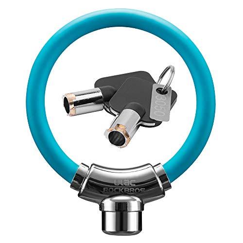 ULAC自転車 鍵 ケーブルロック u字ロック 亜鉛合金 クロスバイク ワイヤーロック バイク ユニーク鍵2本 太さ12㎜ 高切断対抗 盗難防止 頑丈 3色(ブラック)