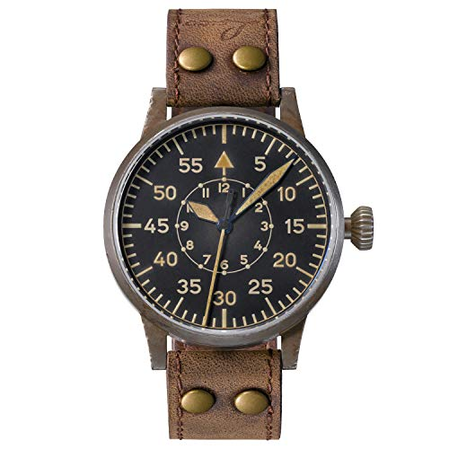 Reloj de aviador original Speyer Erbstück de Laco – Fabricado en Alemania – 39 mm de diámetro – Diseño B – Calidad única – Excelente acabado – Resistente al agua – desde 1925