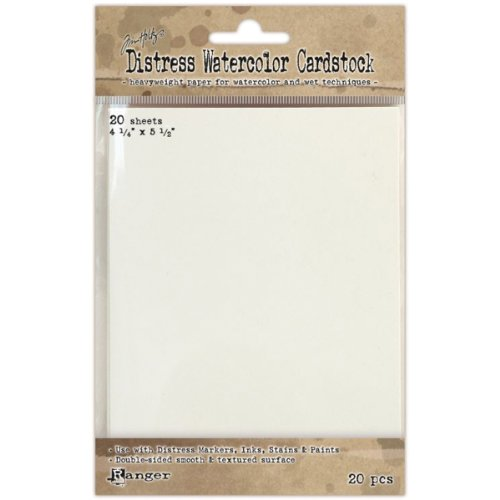 Ranger Time Holtz Distress Watercolor Cardstock, 4.25 by 5.5-Inch, 20-Pack ,Multicolor