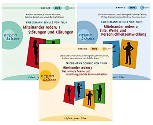 Miteinander reden, 3 MP3-CDs, Störungen und Klärungen/Stile, Werte und Persönlichkeitsentwicklung/Das Innere Team und situationsgerechte Kommunikation