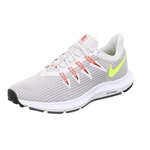 Nike Damen WMNS Quest Laufschuhe, Mehrfarbig (Vast Grey/Volt/Gunsmoke/Bright Crimson 004), 38.5 EU
