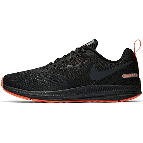 Nike Mens Air Zoom Winflo 4 Shield Running Shoe, Black/Anthracite-Anthracite 10