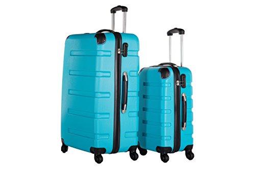 Packenger Koffer 2er-Set Marina, M/XL, Blau