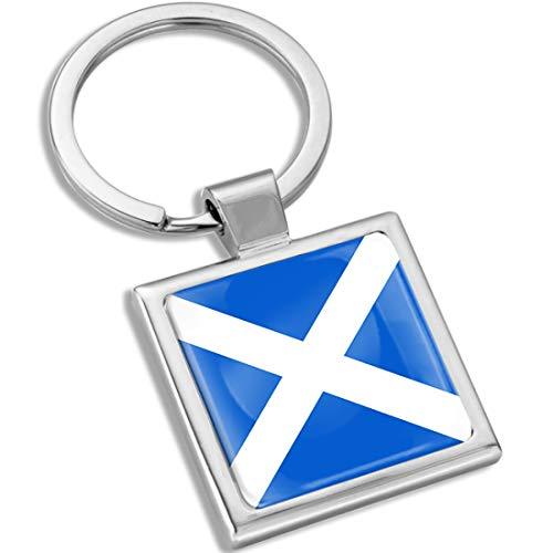 Biomar Labs Llavero con Caja de Regalo de Metal en 3D para Hombres y Mujeres Bandera Nacional Scotland Escocia Escocesa KK 292